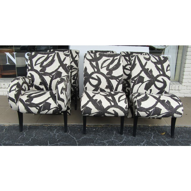 1990s Vintage Thayer Coggin Upholstered Modern Dining Chairs- Set of 6 For Sale - Image 10 of 10