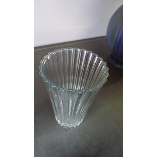 Glass 20th Century French Crystal Vase For Sale - Image 7 of 8