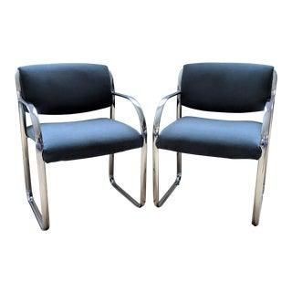 Tubular Chrome Brno Style Chairs - a Pair For Sale