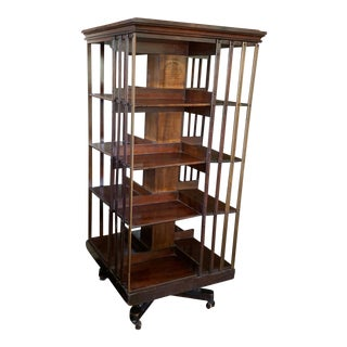 John Danner Patented Revolving Bookcase For Sale