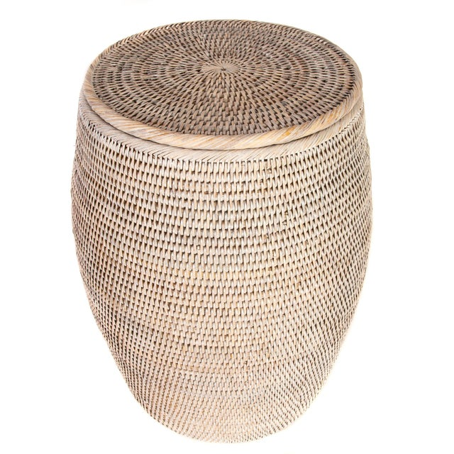 Artifacts Rattan hand woven end tables provide the perfect accent to any room in the house with a tight weave, durable...