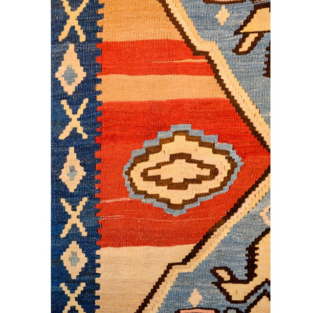 Textile Bold Early 20th Century Azari Kilim Runner For Sale - Image 7 of 9