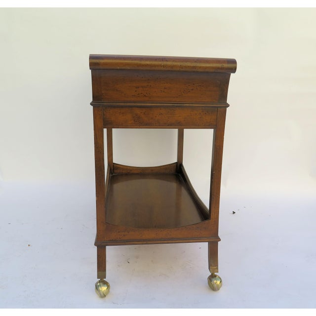 1960's Monumental Maple Wood Bar Cart For Sale - Image 4 of 6