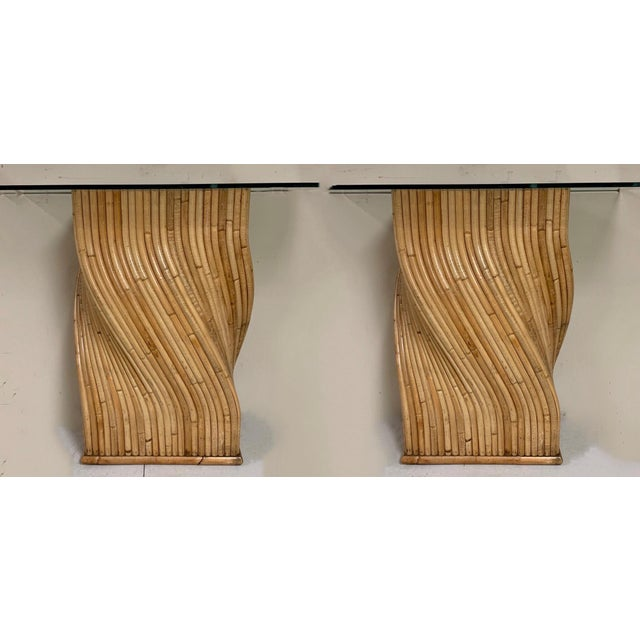 Pair of Pencil Bamboo Modern Console Tables Att. To Crespi For Sale - Image 10 of 10