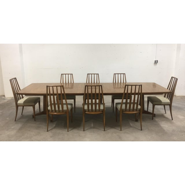 John Widdicomb Mid-Century Dining Table & Chairs - Set of 9 For Sale - Image 13 of 13