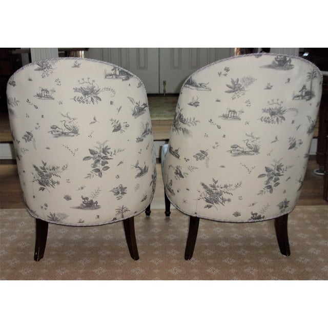 Chinoiserie Brunschwig & Fils Upholstered Chairs - A Pair For Sale - Image 3 of 9