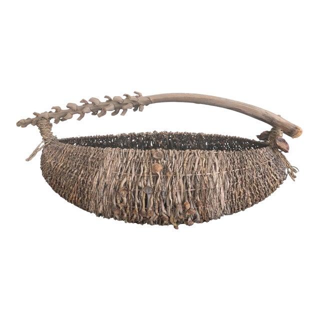 Organic Modern Samuel Yao Handwoven Basket For Sale