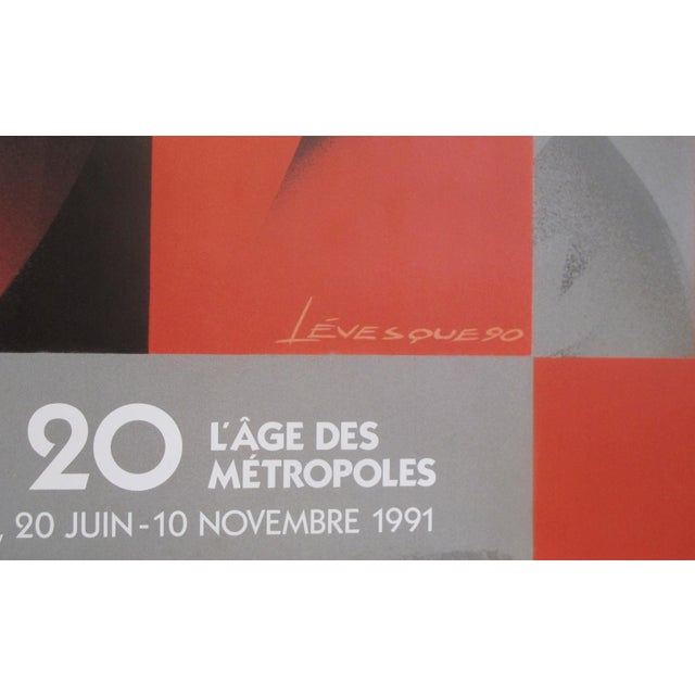 1991 Original Art Deco Exhibition Poster, Les Années 20 - l'Age Des Metropoles (Dancing Couple), for the Mmfa For Sale - Image 4 of 5