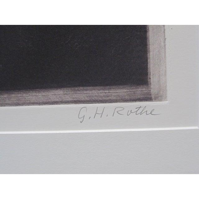 """Orange 1970s Vintage G. H. Rothe """"Grand Saute"""" Signed Ballet Dancer Mezzotint Print For Sale - Image 8 of 9"""
