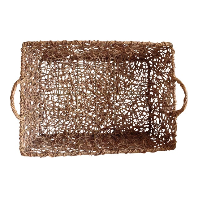 Natural Woven Twig Basket - Image 1 of 8