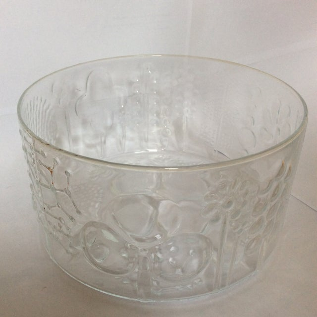 Mid-Century Modern Vintage Iittala Oiva Toikka Flora Bowl For Sale - Image 3 of 6