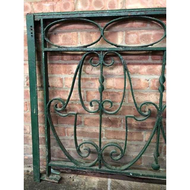 Traditional Late 19th Century Decorative Wrought Iron Balustrade/Railing For Sale - Image 3 of 8
