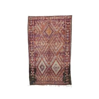Beni M'guild Vintage Moroccan Rug - 6′11″ × 9′10″ For Sale