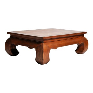 Lanna Thai Teak Wood Coffee Table For Sale