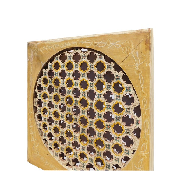 Chinese Rustic Flower Star Geometric Wood Panel For Sale - Image 4 of 6