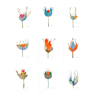 Botanical Grouping Giclee Prints - Set of 9 For Sale
