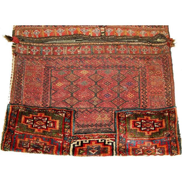 Old Persian Bakhtiari Soumak Khorjin Saddle Bag - Image 3 of 10