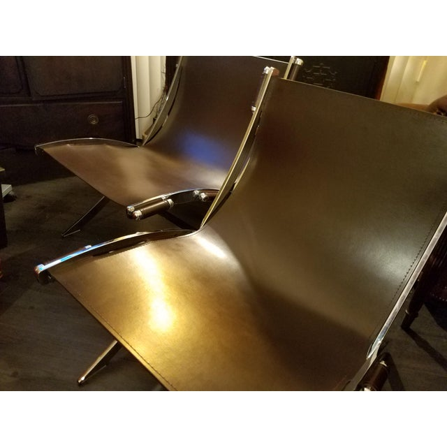 Very stylish, sturdy, chrome framed lounge chairs will complete your home or office with absolute sophistication. Thick...