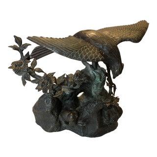 Meiji Era Antique Japanese Bronze Bird Sculpture/Statue For Sale