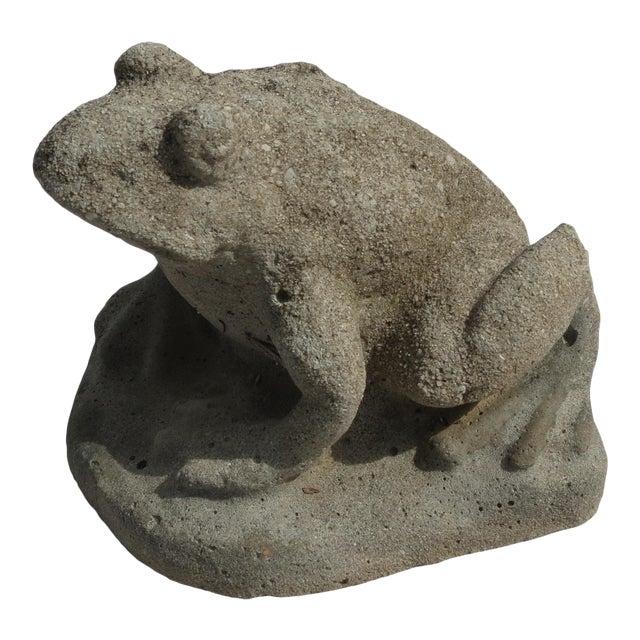 Cast Stone Frog Garden Ornament For Sale