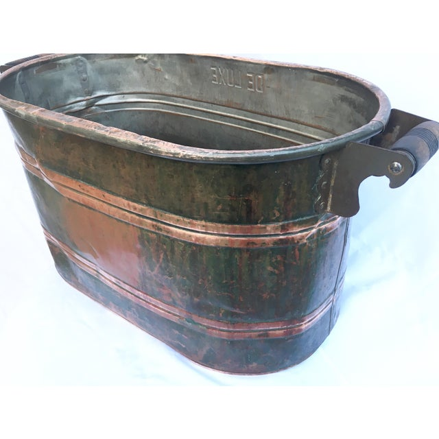 Late 19th Century Antique Copper Boiler De Luxe Wash Basin For Sale - Image 4 of 9