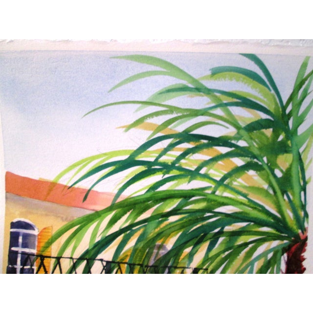 'Afternoon' Watercolor Painting - Image 5 of 7