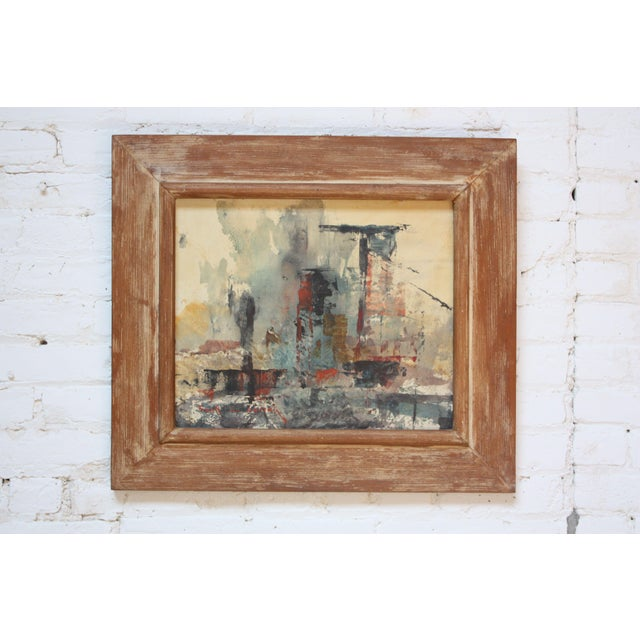 Frank Edwin Larson Abstract Oil and Gouache on Canvas For Sale - Image 9 of 9