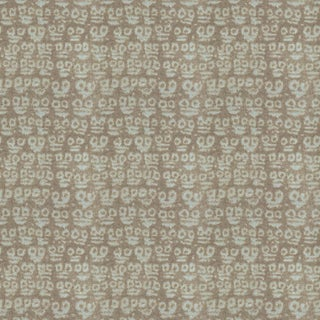 Hunt Slonem for Lee Jofa, Guardians Fabric, Grey, 1 Yard For Sale