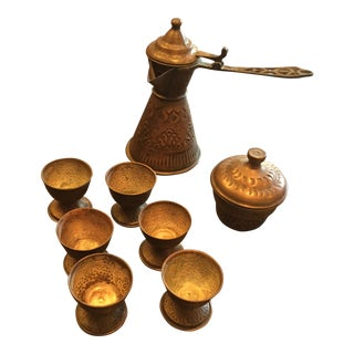 Vintage Turkish Coffee Service - 8 Pc. For Sale