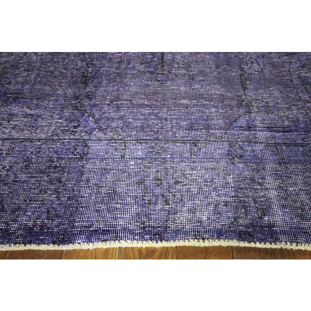 "Purple Overdyed Oriental Rug - 10' 1"" x 12' 1"" - Image 5 of 10"