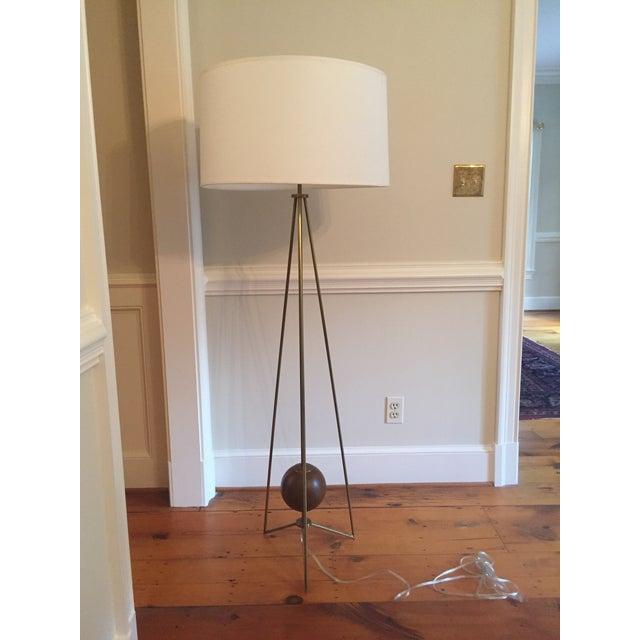 Jonathan Adler Ohai Walnut & Brass Lamp - Image 2 of 10
