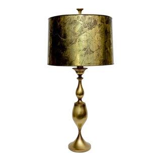 Monumental Midcentury Modern Rembrandt Brass Table Lamp