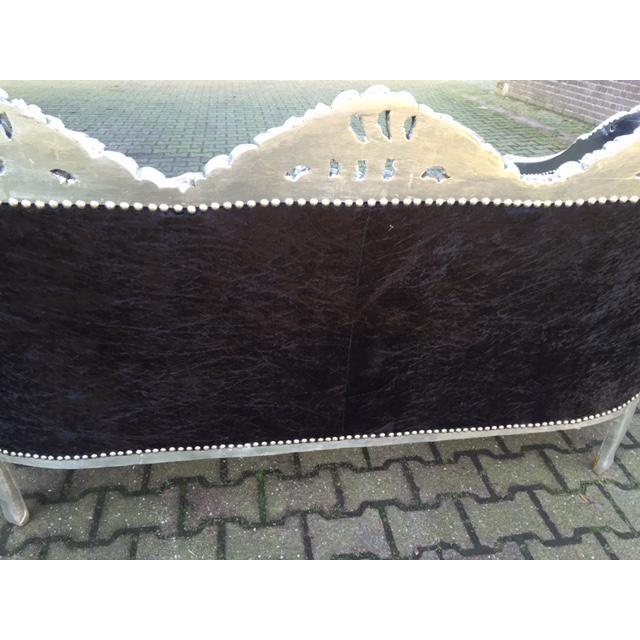 Red & BlackVelvet Baroque Sofa - Image 3 of 8