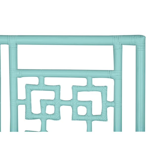 Coastal Palm Springs Headboard Twin - Turquoise For Sale - Image 3 of 5