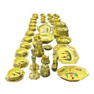 Henriot Quimper Dinner Service 95 Piece Plates Cups Soups France For Sale