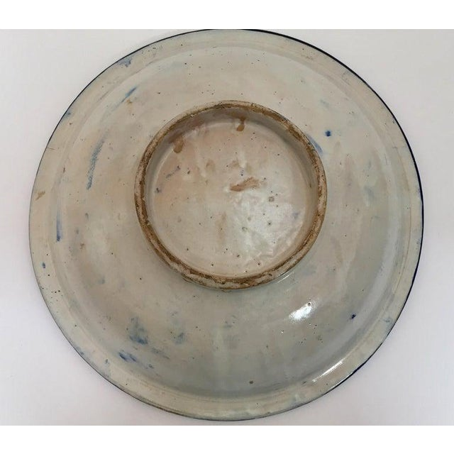 Moroccan Large Ceramic Plate Bowl From Fez For Sale - Image 10 of 13