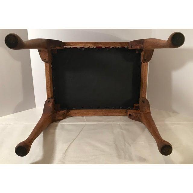 Brown 20th Century Persian Uzbek Suzani Stool Bench For Sale - Image 8 of 9
