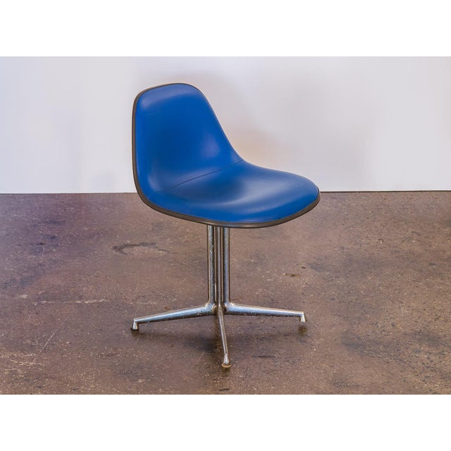Blue vintage La Fonda Chair by Charles and Ray Eames for Herman Miller. Price is for a single chair. We have two blue...