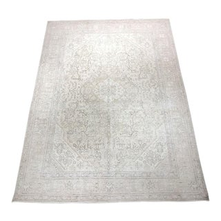 "Bellwether Rugs ""Terance"" Vintage Distressed Tabriz Rug - 9'5""x6'7"" For Sale"