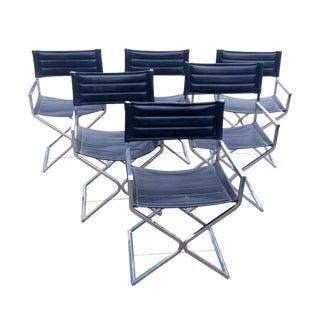 Rare Robert Kjer Jakobsen Chrome Chairs - Set of 6