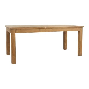 20th century American Country Rustic style rectangular chestnut colored dining table For Sale