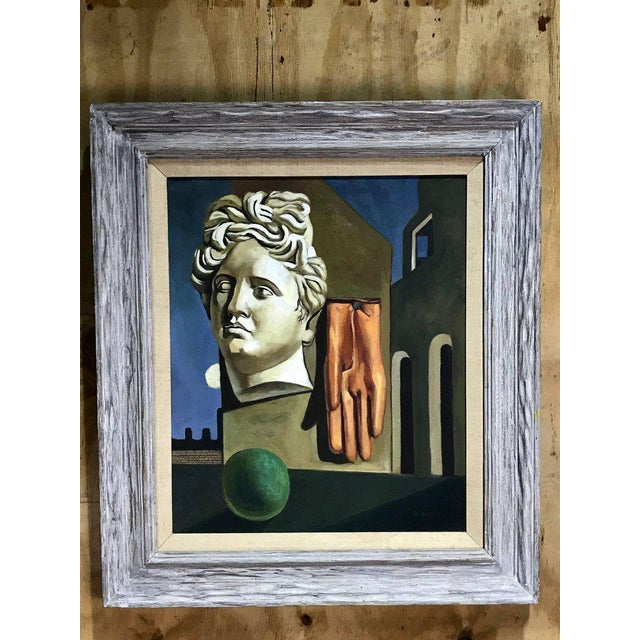 "Midcentury Surrealist still life, after Gorgio De Chirico called ""The Song of Love"". The original hangs in MOMA. by D...."