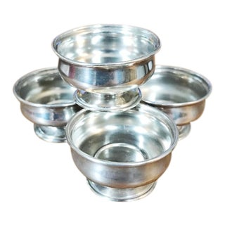 19th Century Victorian Tiffany & Co Sterling Silver Salt Cellars - Set of 4 For Sale