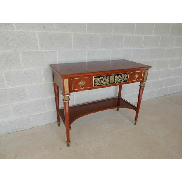 Neoclassical JOHN WIDDICOMB Neo-Classical Bronze Mounted Console Table For Sale - Image 3 of 13