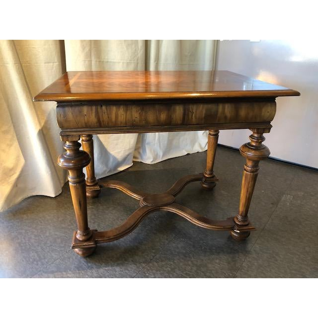 "Mediterranean Ebanista Handcrafted ""Holland"" Lamp Table For Sale - Image 3 of 8"