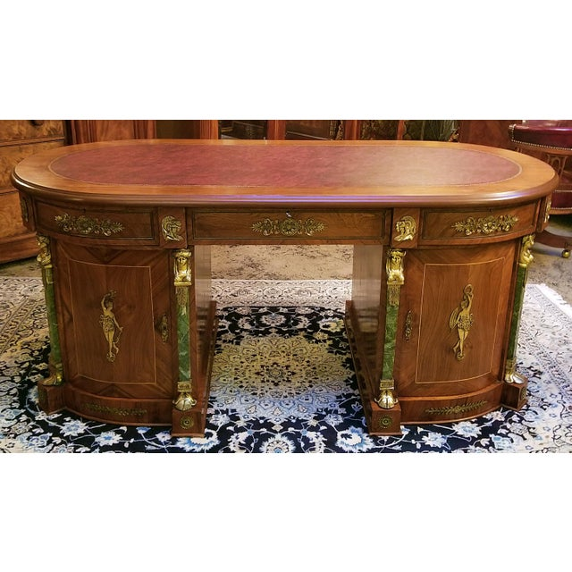 Late 20th Century Egyptian Classical Revival Desk For Sale - Image 5 of 12
