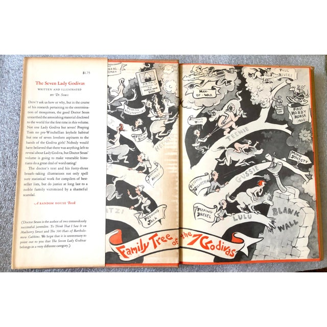 Illustration Dr. Seuss Book the Seven Lady Godivas, 1st Ed. 1939 For Sale - Image 3 of 13