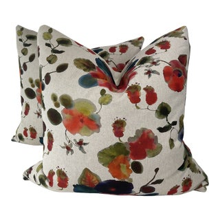 """Rubelli """"Cap d'Antibes in Multicolore 22"""" Pillows-A Pair For Sale"""