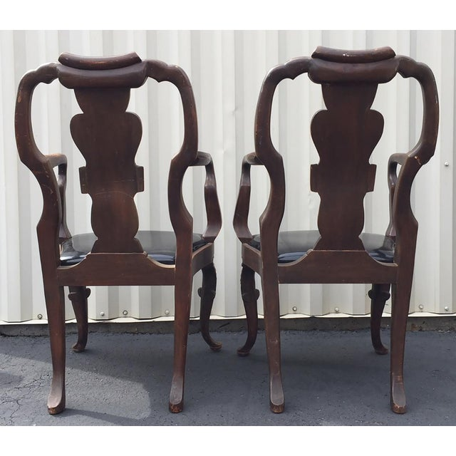 20th Century Chippendale Dining Yoke Chairs - a Pair For Sale - Image 4 of 13