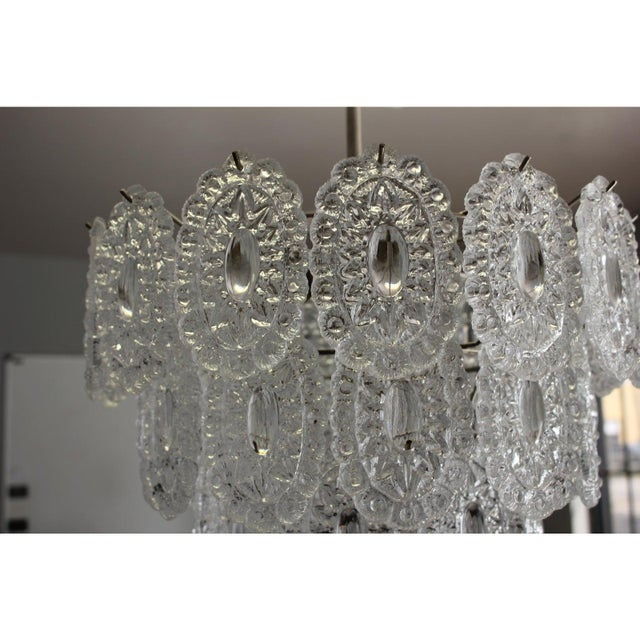 1960s Italian Modern Chandelier by Murano Glass, Circa 1960s For Sale - Image 5 of 12